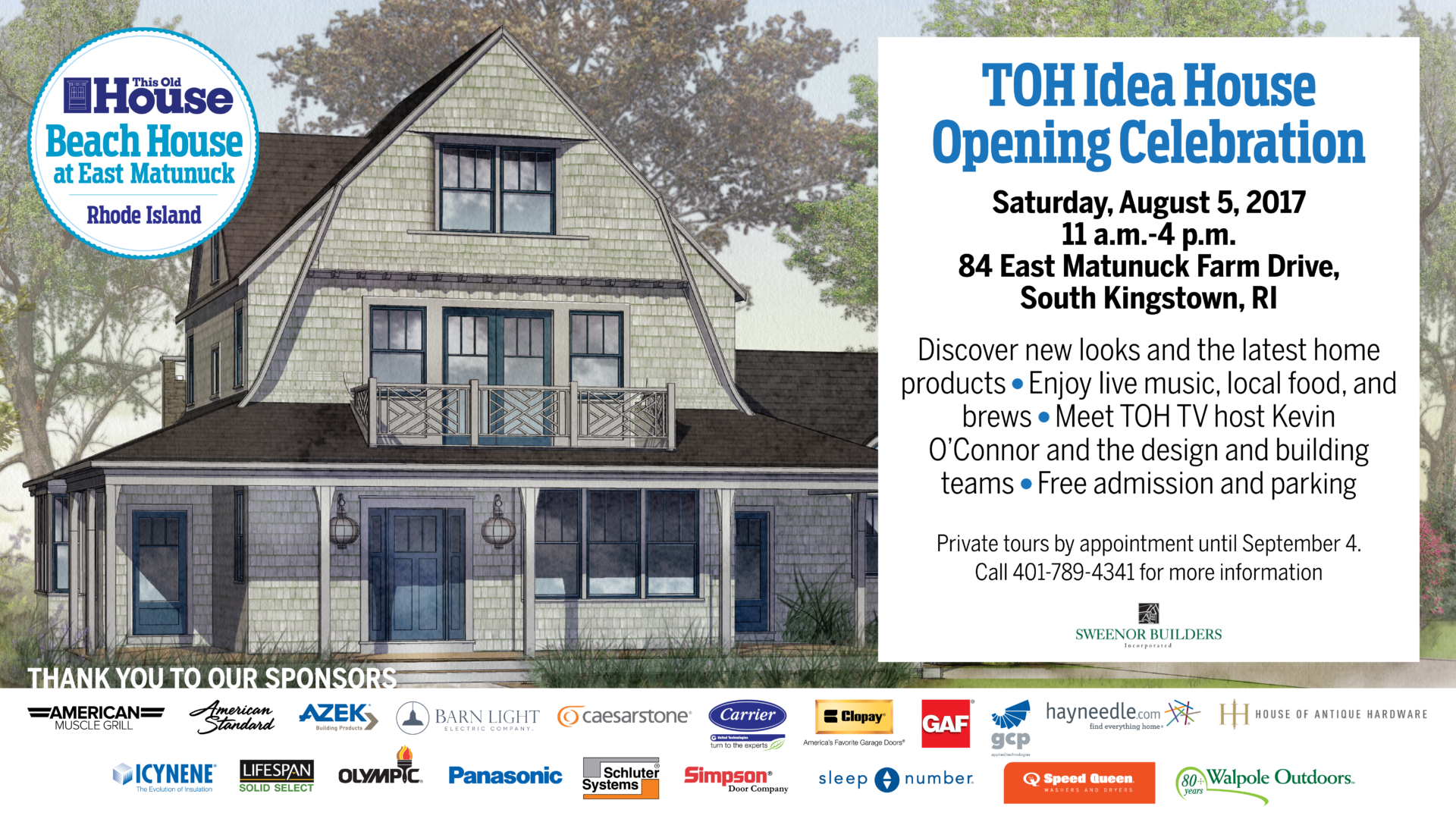THIS OLD HOUSE® 2017 Idea House Grand Opening Celebration